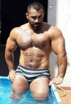 man muscle Nude hairy