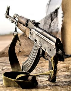 Well used AKM with side folding stock.