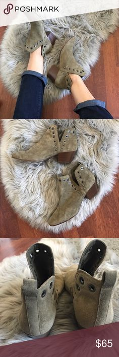 🎉HP! Sam Edelman Rubin grommet booties Brand new without box Sam Edelman Rubin grommet boots in rare olive color. Missing one grommet on right inside - as shown in photos. I don't notice, it's very hard to tell. Size 8.5. Sam Edelman Shoes Ankle Boots & Booties