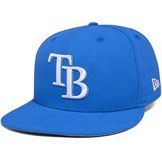 best website 4cd3c 1a02a Tampa Bay Rays New Era Basic Snap Shot 59FIFTY Fitted Hat - Blue