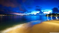 Outstanding Nature Ocean Beach at Night Desktop HD Desktop Wallpaper Scenic Wallpaper, Ocean Wallpaper, Summer Wallpaper, Widescreen Wallpaper, Landscape Wallpaper, Of Wallpaper, Nature Wallpaper, Wallpaper Backgrounds, Live Wallpapers