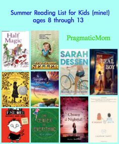 "MUST get ""Half Magic"" for my almost 3rd grader! Great book list for kids going into 3rd and 6th grade from Pragmatic Mom."