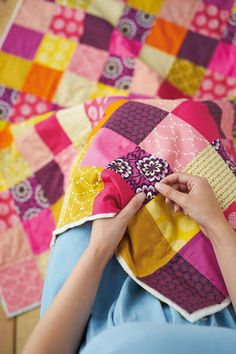 How to hand embroider a quilt for beginners | Mollie Makes 45