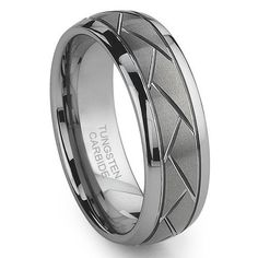 Tungsten Carbide Diamond Cut Groove Newport Wedding Band Ring Titanium Kay. $99.99