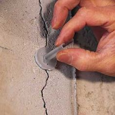 Do your concrete walls have cracks? Discover a simple, effective way to patch cracks in poured-concrete walls from the experts at This Old House today. This Old House, Concrete Projects, Concrete Walls, Poured Concrete, Cement, Repair Cracked Concrete, Wet Basement, Basement Apartment, Basement Walls