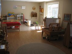 eclectic beautiful home childcare room (Montessori, Waldorf, Reggio)