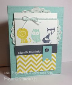 Stampin' Up! Fox and Friends baby card