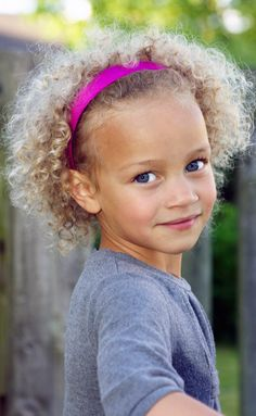 My gorgeous DD and her blonde spirals.  Little cute blond afro, blonde curls, afro.