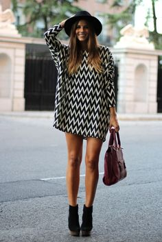 Cute chevron print dress x