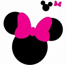 Mickey and Minnie Mouse Silhouette SVG Free Minnie Maus Silhouette, Silhouette Nails, Silhouette Cameo Projects, Minnie Mouse Bow, Mickey Minnie Mouse, Mickey Ears, Theme Mickey, Deco Disney, Design Mandala