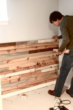 Board up walls for a rustic look...stain them for different looks