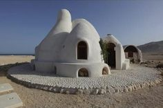 Sandbag Houses Photo Waleed Shaalan Ssh International Dome House Architecture Design