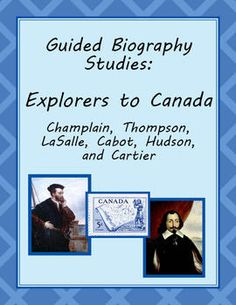 Explorers to Canada - Guided Biography Study Set of 6 (grade History Lesson Plans, Study History, Teaching Social Studies, Teaching Resources, Teacher Lesson Plans, How To Get Followers, Educational Crafts, Phonics, Language Arts