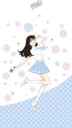 credit belongs to Spirit Fingers, Kyoungchal Han Korean Illustration, Character Illustration, Spirit Fingers Webtoon, Blue Fingers, Webtoon App, Webtoon Comics, Manga Covers, Pictures To Draw, Cartoon Wallpaper