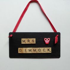 Hey, I found this really awesome Etsy listing at https://www.etsy.com/uk/listing/385544604/personalised-teacher-wooden-plaque-back