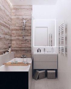 Small Bathroom Layout, Modern Bathroom Decor, Bathroom Interior Design, Modern Small Apartment Design, Small Apartments, Hotel Room Decoration, Inside Home, Bathroom Organisation, Easy Home Decor