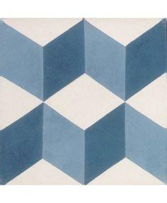 Geometric Midnight Blue Encaustic Tile