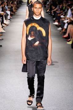 derriuspierre: Givenchy Menswear Spring / Summer 2013 show as part of Paris Fashion Week on June 2012 in Paris, France. Fashion Killa, Fashion Show, Retro Fashion, Mens Fashion, Paris Fashion, Givenchy Man, Textiles, Italian Fashion Designers, Men Looks