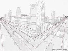 Perspective Drawings Of Buildings drawing buildings in one point perspective - google search