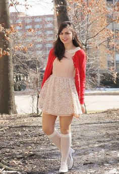 Someone Like You: Cherry Cream Soda ♥. I am not a big fan of those stockings, but the rest of the outfit is adorable. Tween Fashion, Cute Fashion, Girl Fashion, Fashion Outfits, Womens Fashion, Cute Girl Dresses, Pretty Dresses, Sexy Dresses, Girly Outfits
