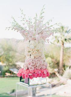 Stunning pink #floral arrangement #weddinginspiration  Paradise Valley, Arizona Wedding from Melissa Schollaert Photography + Victoria Canada Weddings & Events