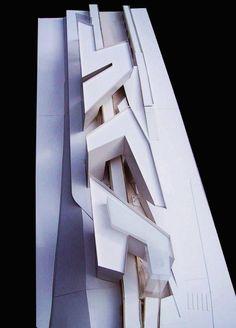 Zaha Hadid (1950 – 2016) | Spittelau Viaducts Housing Project  | Vienna, Austria | 1994 | http://www.zaha-hadid.com