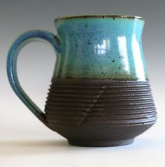 Large Coffee Mug 17 oz handmade ceramic cup tea cup by ocpottery, $27.00