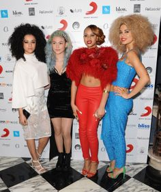 Neon Jungle representing the girl bands at the BRITs afterparty!