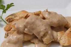 Como hacer Salsa de Nueces (es deliciosa para acompañar ensaladas o pastas). Pesto, Potato Salad, Mashed Potatoes, Chicken, Ethnic Recipes, Food, Salad Toppings, Skimmed Milk, Steaks