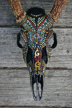 Animal Skull Painting by Veronica Jones on Behance