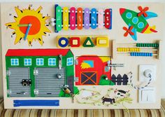 Busy Board Farm Activity-Board sensorische von Woodledoodleshop