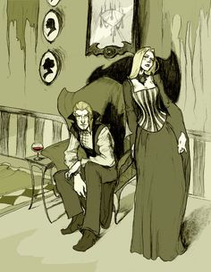 Lucius and Narcissa by MirrorCradle on DeviantArt.