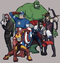 The Team Fortress 2 Gang As The Avengers