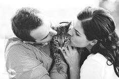Engagement session with cats!