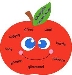 Bijvoeglijke naamwoorden, idee van: http://acupcakefortheteacher.blogspot.nl/2013/09/a-delicious-recap-apple-week.html?m=1