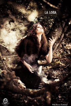 """She creeps through the mountains and the dry riverbeds, looking for wolf bones, and when she has assembled an entire skeleton, she sits by the fire and thinks about what song she will sing. Then she stands over the criatura, raises her arms over it, and sings out. Hence the rib bones and leg bones of the wolf begin to flesh out and the creature becomes furred, La Loba sings some more, and more of the creature comes into being."""" — Clarissa Pinkola Estes WILD WOMAN SISTERHOOD™…"""