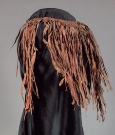 The hunter-gatherers, known generically as San peoples have endured for millennia in South Africa and Namibia, although their existence is now threatened.  They continue to produce ostrich egg-shell beads that resemble the oldest known beads on the continent, but in the last century have also used imported glass beads.  Early San beadwork had minimal patterning, but more recent beadwork has become increasingly complex, utilizing a number of geometric motifs.