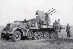 A German SdKfz. 7 anti-aircraft gun.