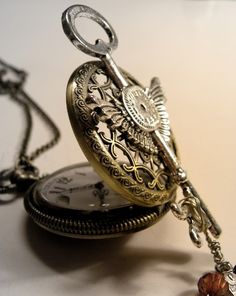 Filigree Pocket Watch by UncommonRecycables on Etsy, $24.00