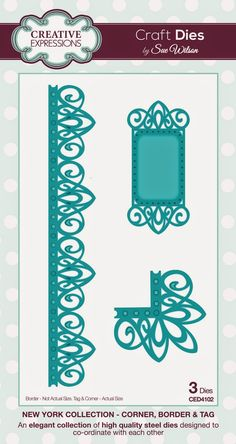PartiCraft (Participate In Craft): New York Collection Border, Corner, Tag set