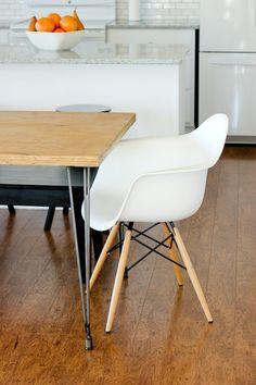 Homemade modern ep41 the easy diy table handmade for Plywood table hairpin legs