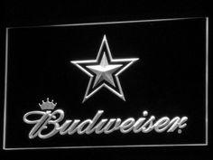 Dallas Cowboys Budweiser LED Neon Sign