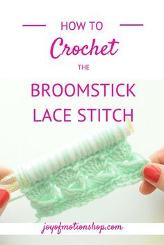 How to: Crochet the Broomstick Lace Stitch. Learn this beautiful & exciting crochet stitch. This will look amazing in almost any crochet pattern & project.