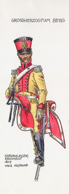 Granducato di Berg - Chevaulegers Regiment, 1807