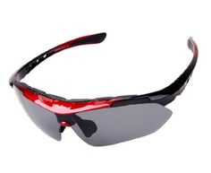 Mountain Bike Sunglasses Pellor Cycling Wrap Running Outdoor Sports Sunglasses Exchangeable 5 Lenses Unbreakable Polarized UV400      Material: PC (Lens), pmct (Frame)     The main black lens is polarized lenses against strong sunlight, the other 4 lens are colored sunglasses for different environmental condition     Coated: Main Black Polarized UV400, Other 4 colored UV400     Support Wear together with your own eyeglass     Replaceable glasses leg, can change to the Elastic Sport Belt