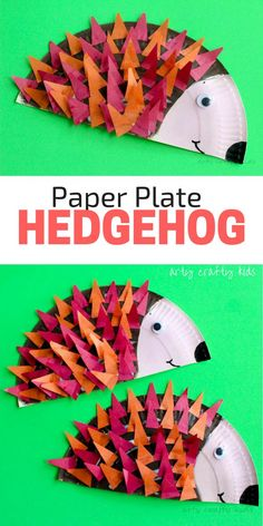 Arty Crafty Kids Craft Paper Plate Hedgehog Craft Super Cute Hedgehog Craft For Kids. Ideal For Autumn Crafting And Woodland Animal Topic At Preschool. Paper Plate Art, Paper Plate Crafts For Kids, Animal Crafts For Kids, Crafts For Kids To Make, Craft Activities For Kids, Toddler Crafts, Animals For Kids, Preschool Crafts, Paper Plates