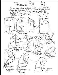 Origami Animals Paper Models Diy Oragami Homemade Templates Crafts Home Made