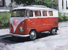 David Lloyd - Artblog: Orange VW Bus