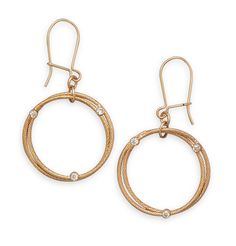 Nora's Golden Halo Earrings:  12/20 Gold Filled Double Circle Design Earrings
