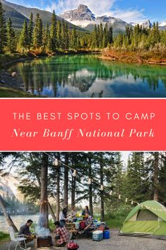 Canmore camping is where it's at. Here's all you need to know about the best campgrounds in Canmore or a short drive from town. Alberta Canada, Banff Canada, Canada National Parks, Banff National Park, Canadian Travel, Canadian Rockies, Canada Vancouver, Camping Spots, Camping Stuff